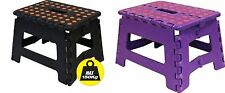 Wham Small Sturdy Folding Portable Step Stool/Chair/HopUp Stool/1-step-Assorted