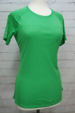 NIKE Women's Miler Short Sleeve Running Shirt T-Shirt M Medium 405254-324 Green