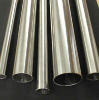"""STAINLESS STEEL TUBING 2"""" O.D. X 10 INCH LENGTH X 1/16"""" WALL TUBE PIPE"""