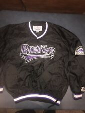 Vtg Colorado Rockies Baseball Starter Pullover Jacket Youth Size XL Lined NWOT