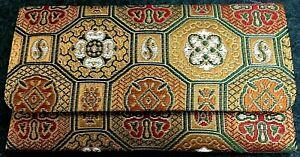 Gold Silk Case Pouch for Japanese Buddhist Prayer Beads Bracelet Rosary Juzu