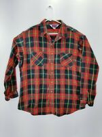 Big Mac Thick Blue Red Plaid Check Flannel Shirt Grunge Men's USA Men's XLT