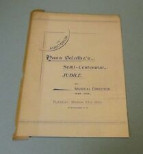 1895 Hans Balatka Semi Centennial Jubilee Chicago Concert Program Us Conductor