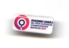 BIATHLON pin IBU OPEN European Championships 2017 Duszniki-Zdroj badge white