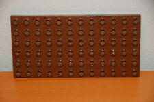 Lego Duplo 6x12 Baseplate Brown