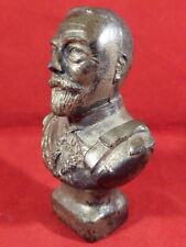 RARE BRITAINS GEORGE V 1935 SILVER JUBILEE LEAD BUST WITH SILVER FINISH