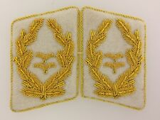 German/Germany WWII Luftwaffe GENERAL Wire Embroidered Collar Tabs - PAIR