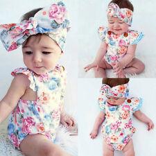 Recién Nacido Infantil Bebé Floral Body mono trajes traje de baño ropa
