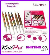 KnitPro Symfonie Wood Interchangeable Circular Chunky Needles Set - Gift Hobby