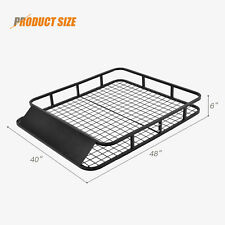 "48"" x 40"" Universal Roof Rack Basket Car Top Luggage Carrier Cargo Holder Travel"