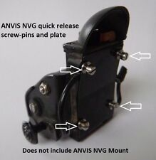 ANVIS NVG Quick Release Pin-Screws and Plate