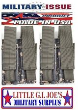 (2) NEW ACU Molle M-9 Double 9MM Molle Magazine Pouch Or 45Cal MILITARY ISSUE