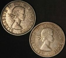 1964 Canada Silver Dollars (2) - Free Shipping USA