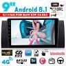 9'' Android 8.1 1+16G Navi Stéréo Autoradio Wifi Tactile pour BMW E38 E39 E53 X5