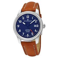 Revue Thommen Men's Air speed XL Brown Leather Strap Mechanical Watch 16052.2535