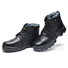 Womes Winter Warm Occupational Anti Puncture Steel Toe Work Safety High Top Boot