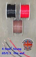 Pared delgada cable 4.5mm², (11AWG) 42amp, Auto, Marino, Bajo Voltaje, TW4.5
