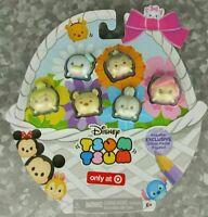 NEW Disney Tsum Tsum Glitter Pastel Target Exclusive Tinkerbell Ariel Pooh