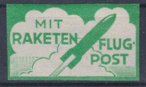 Österreich Schmiedl Raketenpostzettel Postfrisch ** Ungezähnt Grün