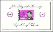 Liberia 1963 President John F Kennedy/JFK/Politics/People 1v m/s (n23649)