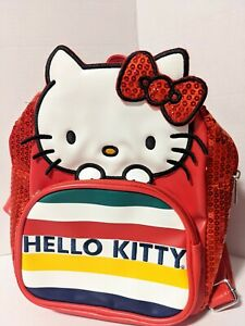 Hello Kitty x HBC Stripes Red Sequins - Mini Backpack Purse Canada Exclusive NEW