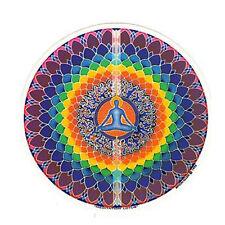 Mandala Arts Meditation Lotus 2 Side High Quality Circle Window Sticker