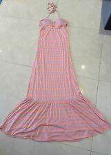 Polyester Full-Length Striped Sundresses for Women