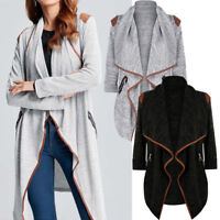 Womens Coat Knitted Casual Long Sleeve Tops Cardigan Jacket Outwear Plus Size AB