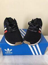 New Men's Adidas Originals Zx Flux Tri Color Red Blue White Size 10.5