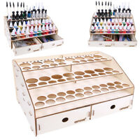 NEW!OPHIR 80 Holes Wooden Paint Rack Bottle Storage Rack Holder Modular Cabinet