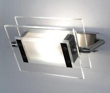 LEUCOS - TRECENTOSESSANTAGRADI 120, lampada da parete - soffitto nichel satinato