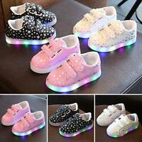 Baby Toddler Boys girls Kids Luminous Sneakers Light Up Shoes LED Shoes ACY