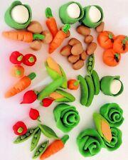 Edible Large vegetables veg gardening Birthday Farm Cake Topper Icing Decoration
