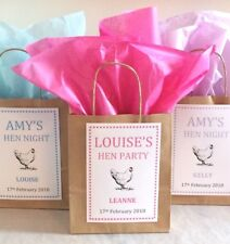 Personalised Brown Paper Favour Bags/Gift/Wedding/Christening/Night/Hen Party
