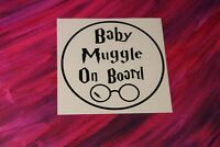 BABY MUGGLE ON BOARD STICKER DECAL BABY IN CAR BUY 2 GET 3rd FREE Made in USA