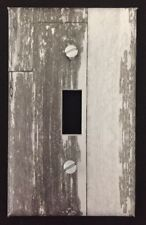 Light Switch Plate Cover Aged Wood Image White Coastal Home Beach Decor Planks