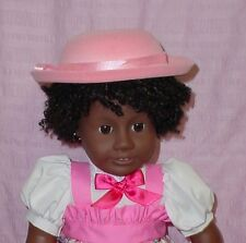 """Pink Velvet Brimmed DOLL HAT w/ Ribbon Trim fits 18"""" AMERICAN GIRL Doll Clothes"""