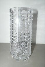"""WATERFORD CRYSTAL VASE CYLINDER ROUND TALL 8"""" GOOD USED"""