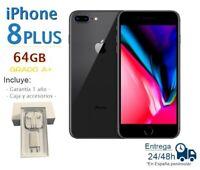 APPLE IPHONE 8 PLUS 64GB NEGRO REACONDICIONADO LIBRE/ GRADO A+ / CAJA ACCESORIOS
