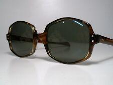 "NOS 60s-70s American Optical SUNVOGUES ""CUE"" Sunglasses Tortoise True Color 51"