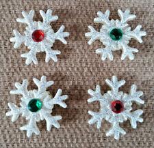 Copo De Nieve Botones Redondos forma 2 agujero botón en Blanco Talla 14mm Novedad