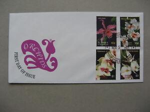 ST. VINCENT,  cover FDC 2003, flower orchids