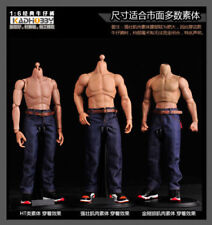 Men's 1:6 Scale Classic Jeans Denim Pants F 12'' Muscular Figure Body
