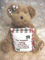 "Boyds Bears Christmas Bear ""Greatest Holiday Memories Created w/Friends"""