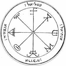 3. Third Pentacle of Saturn - Seal of Solomon- Vinyl Sticker Decal