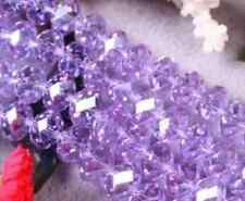 95pc Purple Crystal Gemstone Loose Beads 4x6mm AAA