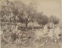 Algeria Cimitero Arabo Tlemcen Neurdein Vintage Albume-Albume Ca 1880