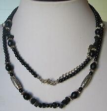 ANCIEN BIJOU COLLIER VERRE PLASTIC signé LC  Liz Claiborne vintage necklace B118