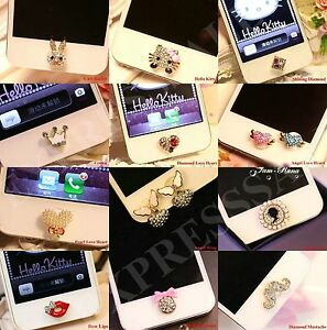 Fashion 3D Crystal Diamond Home Button Sticker For iPhone5th,6th,6s,6s+,7,7 plus