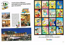 PUBLICITE  1992   IBM & SOFTWARE COLLECTION EURO DISNEY ( 4 pages)